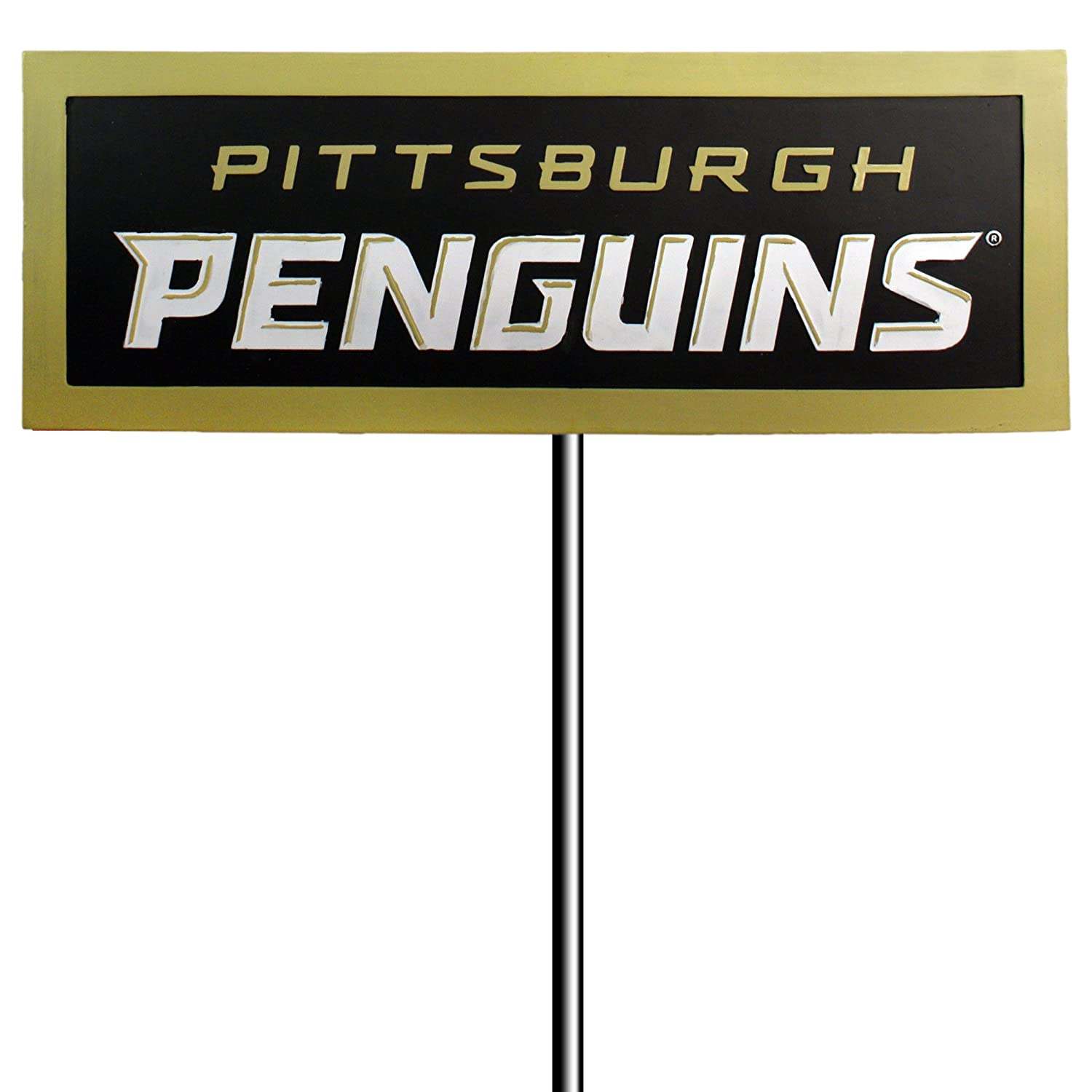 Amazon com pittsburgh penguins resin garden sign with stake sports fan street signs sports outdoors