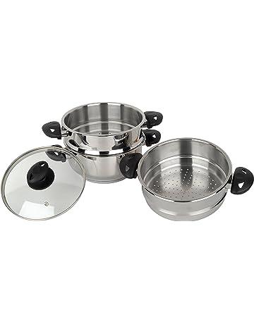 Stainless Steel Collection Pendeford - Set de 3 vaporeras para olla (20 cm, acero