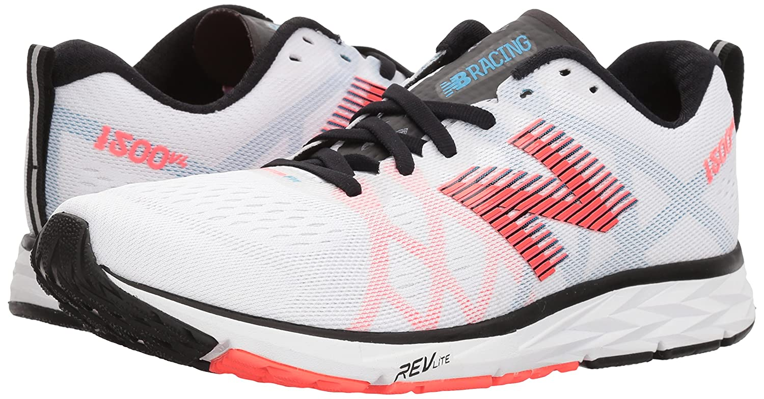 New Balance Women's 1500v4 Running Shoe B06XSCXKDY 8.5 D US|White/Black