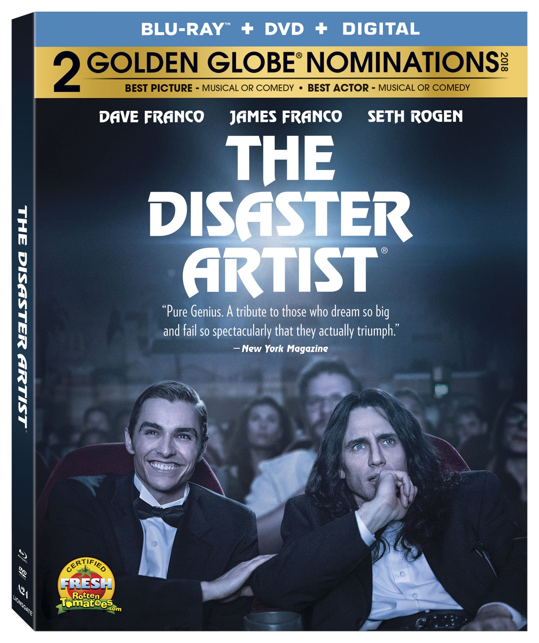 Blu-ray : The Disaster Artist (With DVD, Widescreen, Subtitled, 2 Pack, AC-3)