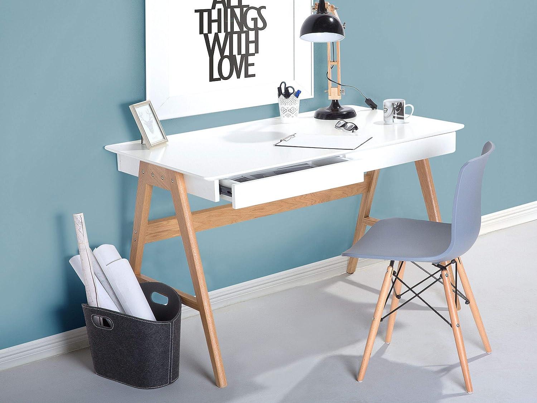 Mesa de escritório - 2 cajones - Blanco - 120x70 cm ...