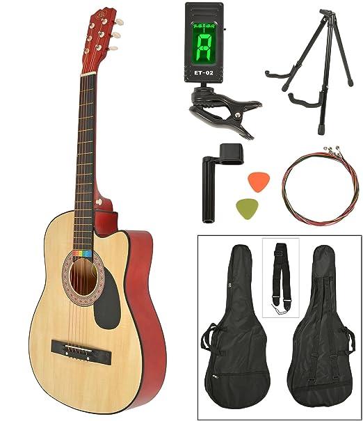 15 opinioni per Chitarra acustica Western completa di borsa, LCD accordatore, supporto