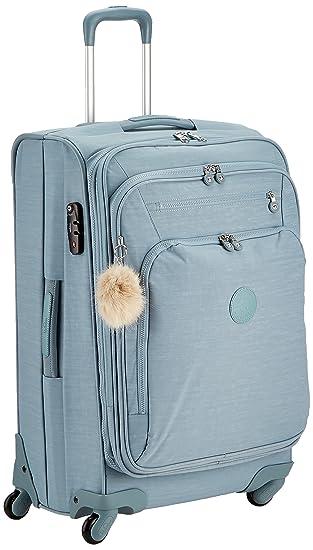 Kipling Youri Spin Equipaje de mano, 68 cm, 71 Litros, Azul (Dazz Soft Aloe): Amazon.es: Equipaje
