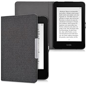 kwmobile Funda para Amazon Kindle Paperwhite - Carcasa [Plegable] de [Tela] para e-Reader - Case en [Antracita] (para Modelos hasta el 2017)
