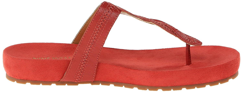 Nine Dress West Women's Raspy Leather Dress Nine Sandal B00SZ28TIK 9.5 B(M) US|Orange e88e31