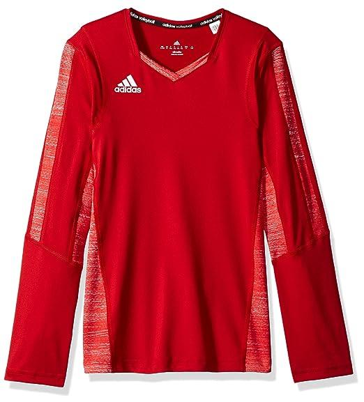 15149b28 Amazon.com : adidas Girl's Volleyball Quickset Long Sleeve Jersey : Clothing