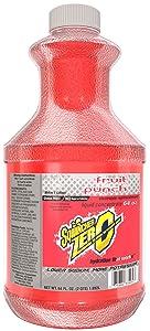Sqwincher Zero Liquid Concentrate, Fruit Punch, 64 fl oz (Case of 6)