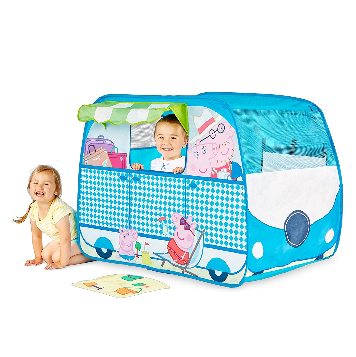 Peppa Pig 167PED C&ervan Playhouse Pop Up Role Play Tent Amazon.co.uk Toys u0026 Games  sc 1 st  Amazon UK & Peppa Pig 167PED Campervan Playhouse Pop Up Role Play Tent ...