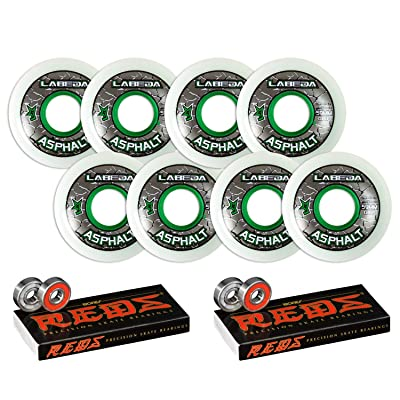 Labeda Asphalt Inline Roller Hockey Wheels 59mm White 83A 8-Pack Bones Reds : Sports & Outdoors