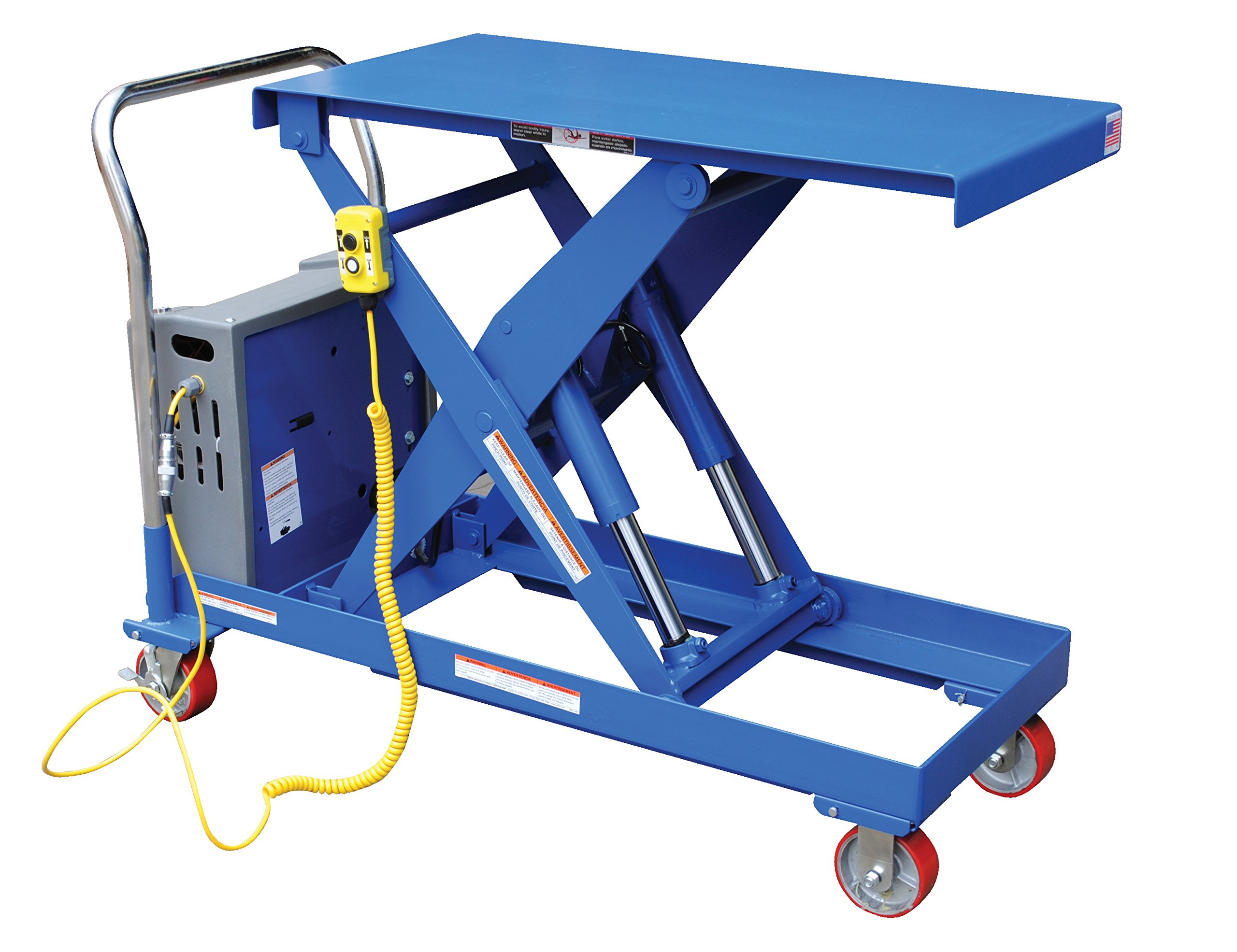 Vestil CART-2000-DC DC Power Scissor Cart, 2000 lb. Capacity, 20 '' x 40''