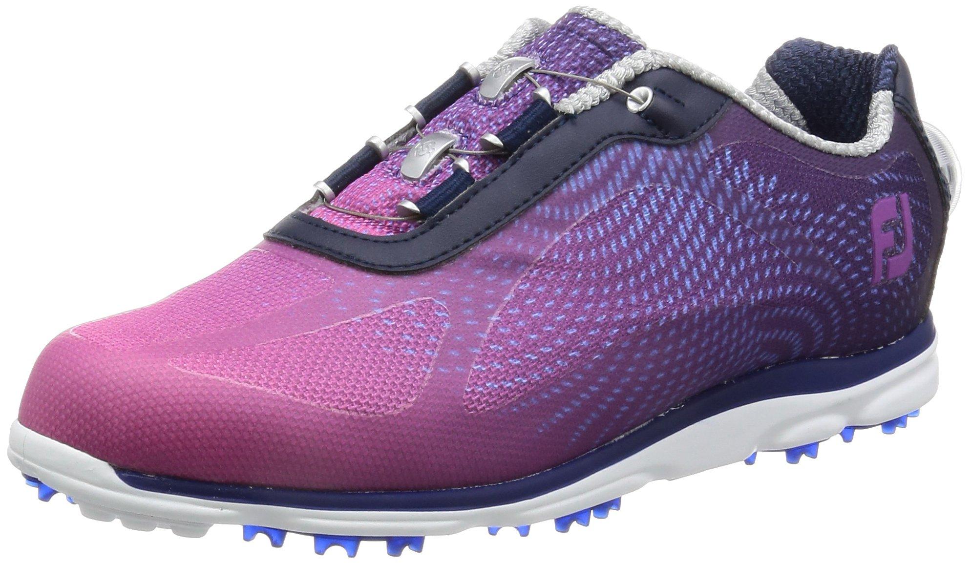 FootJoy EmPower BOA Spikeless Golf Shoes 2015 Women CLOSEOUT Navy/Plum Medium 6