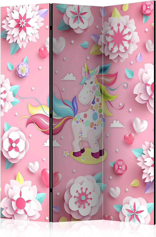 murando Paravento /& Lavagna di Sughero Unicorno 135x172 cm Stampa bilaterale su Tela in TNT 100/% Non Trasparente Parete Divisoria Interno Separatore Stanza Home Office e-C-0058-z-b