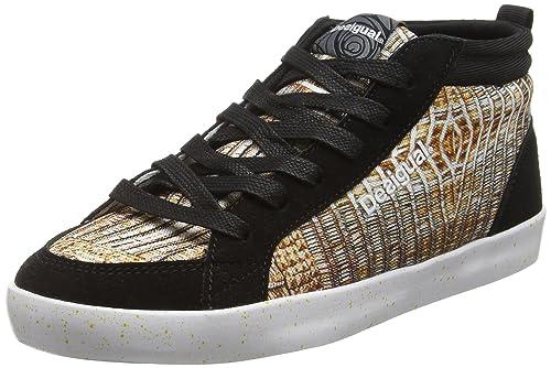 Desigual Shoes_Classic Mid G, Zapatillas Deportivas para Interior para Mujer, Dorado (DORADO8010), 38 EU: Amazon.es: Zapatos y complementos