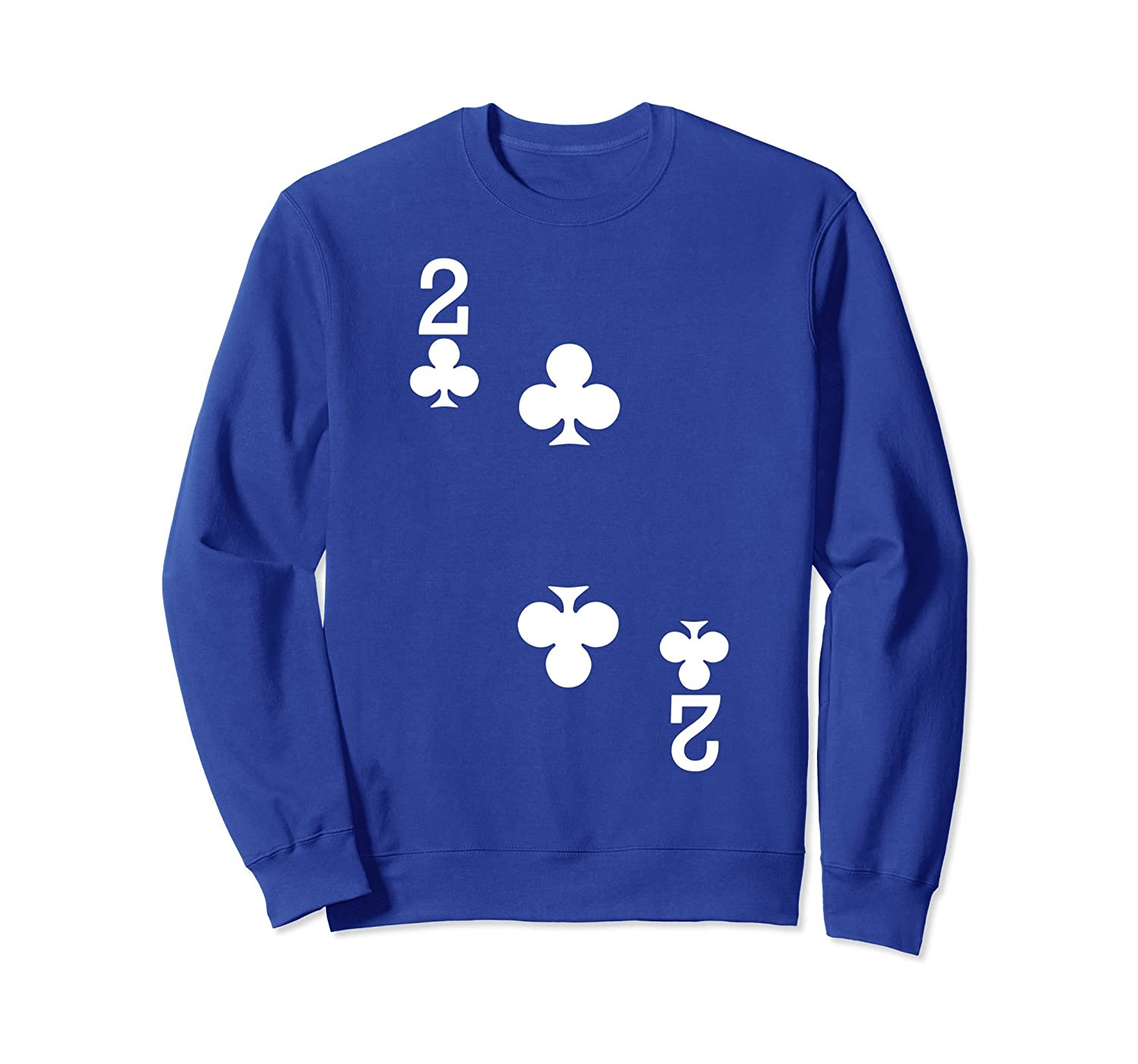 2 of Clubs - Playing Card Halloween Sweatshirt (Dark)-Rose