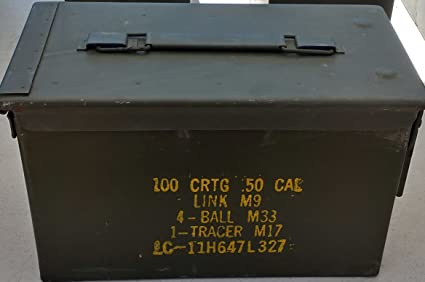 Amazon.com   U.S. Military Surplus M2A1 .50 Cal Ammo Can   Sports ... 75c823b1275