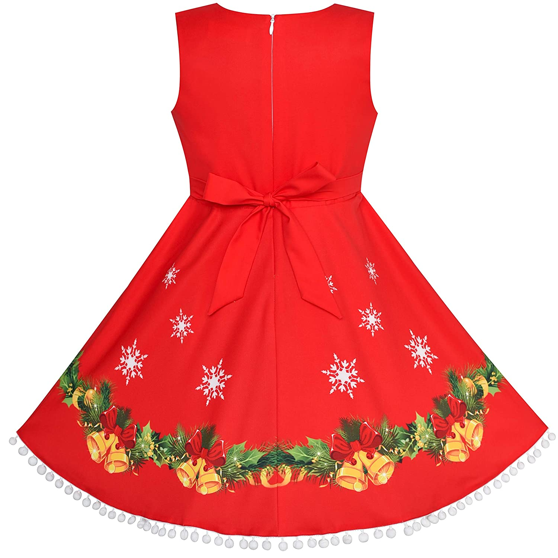 1b3767e53 Amazon.com  Sunny Fashion Girls Dress Red Cape Cloak Christmas Year ...