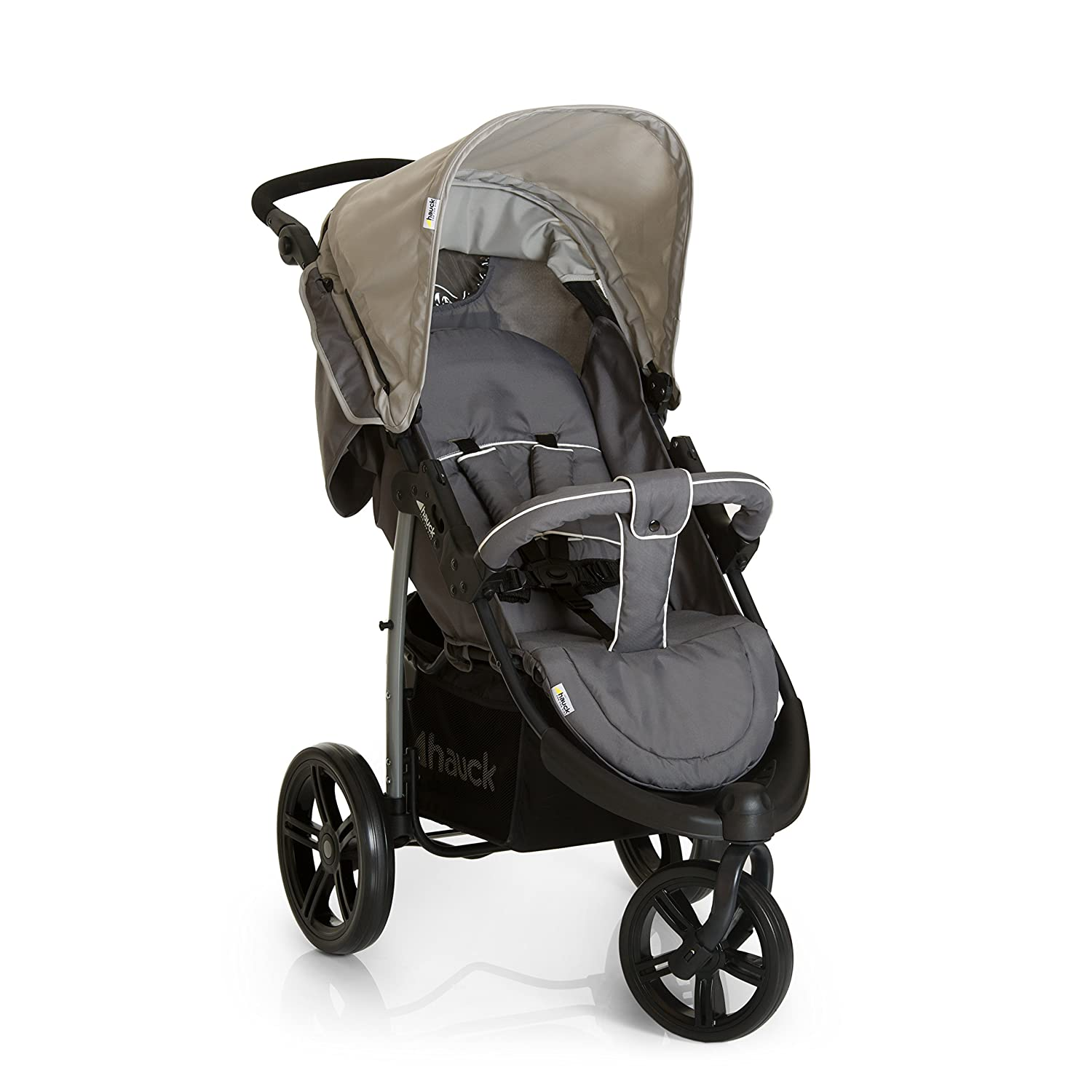 Hauck Viper SLX From Birth to 22Kg Three Wheel Stroller with raincover, Grey H-31040