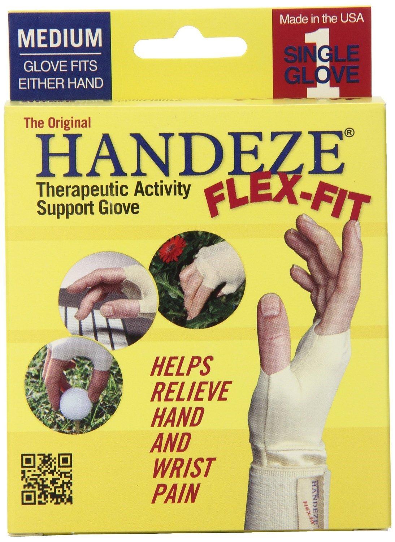 HandEze Flex-Fit Therapeutic Glove Medium, Beige - Each, Pack of 6