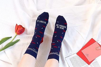 """UO""""TE quiero Un mundo de bien calcetines, Algodón, Azul, ..."""