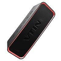 Bluetooth Lautsprecher, VTIN Musikbox Speaker mit Bass +, IPX6 Wasserdicht
