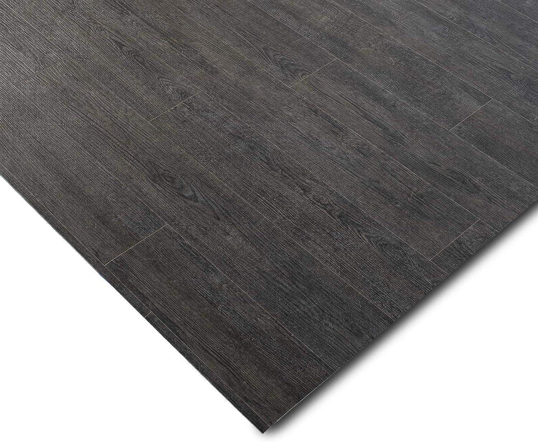 casa pura/® CV Bodenbelag Vancouver gesch/äumt 200x700 cm Meterware extra abriebfester PVC Bodenbelag edle Holzoptik - Eiche Vintage Dunkel Oberfl/äche strukturiert