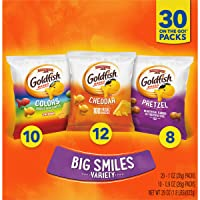 Deals on 30-Count Pepperidge Farm Goldfish Crackers Big Smiles Variety Pack