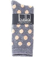 b.ella Bea Cashmere Blend Polka Dot Crew Sock