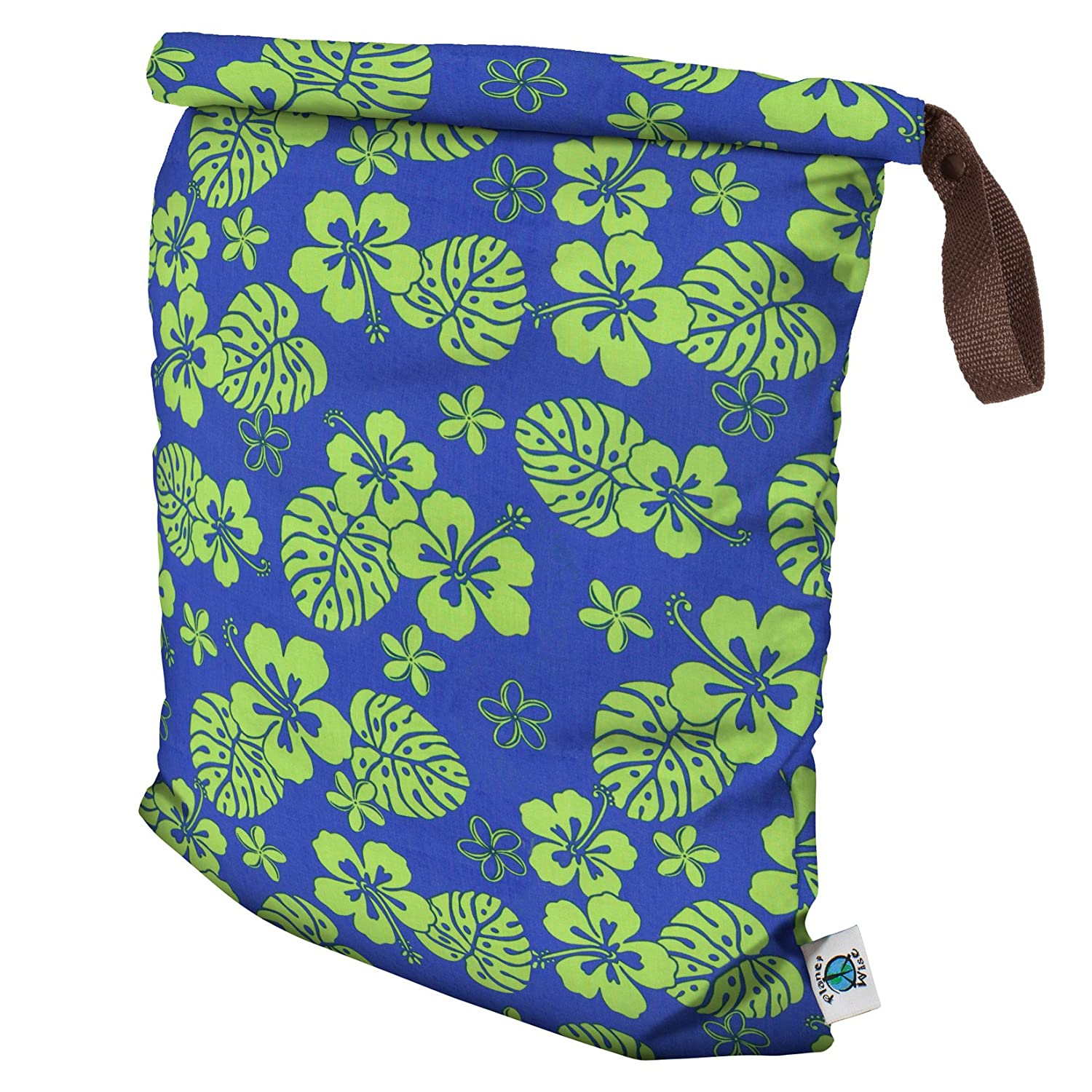 Planet Wise Roll Down Wet Diaper Bag, Blue Hawaii, Large by Planet Wise   B00CHPJ84U