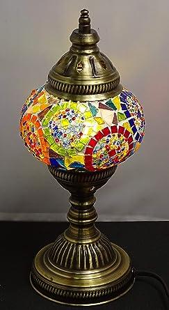 kenta artesanias Lampara turca sobre mesa - 32 cm x 13 cm ...