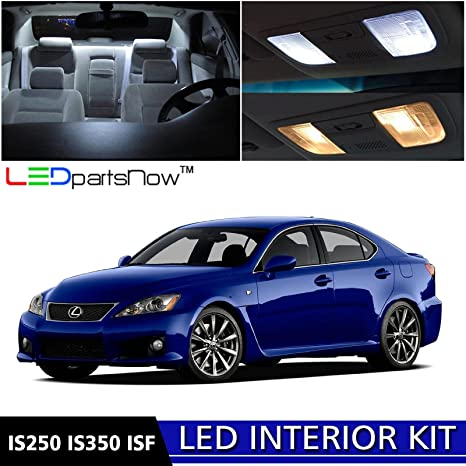 LEDpartsNow 2006 2013 Lexus IS250 IS350 ISF LED Interior Lights Accessories  Replacement Package Kit (