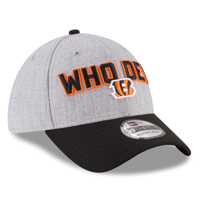 online store ff5c1 350e6 Amazon.com   New Era Cincinnati Bengals 2018 NFL Draft Official On-Stage  39THIRTY Flex Hat - Heather Gray Black   Sports   Outdoors