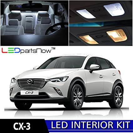 Amazon.com: LEDpartsNow 2016-2017 Mazda CX-3 CX3 LED Interior Lights ...