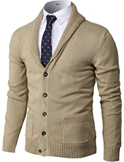 Mens Cotton Zip Cardigan Sweater with Vertical Stripes Brand find