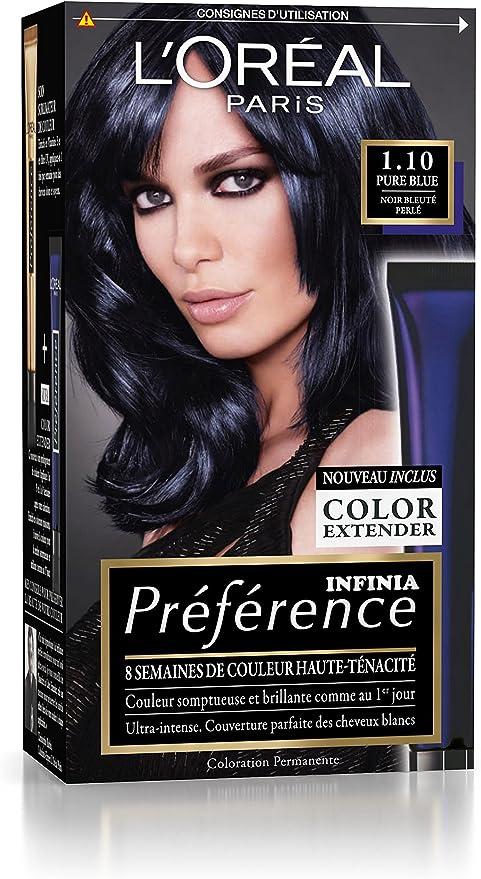 L Oreal Paris Preference Coloration Permanente 1 10 Noir Bleute
