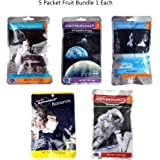 Astronaut Space Food Freeze-Dried Ready To Eat Fruit - 5 Packets Space Food Fruit Strawberry, Peach, Grapes, Banana and Cinnamon Apple Wedges