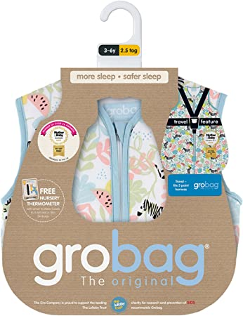 Tommee Tippee GRO Saco de dormir Grobag, 6-10 años, 1.0 TOG, Cebras