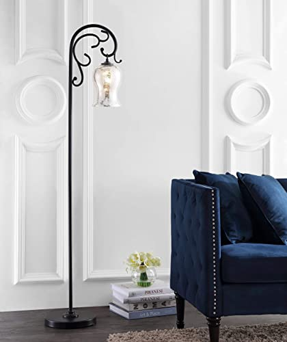 Safavieh FLL4057A Lighting Meridia Black 64-inch LED Bulb Included Floor Lamp