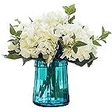 Felice Arts, fiori artificiali, ortensia di seta, bouquet per la decorazione della casa, 3 pezzi crema
