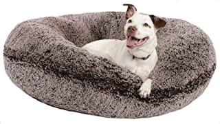 product image for Bessie and Barnie Signature Frosted Willow Luxury Shag Extra Plush Faux Fur Bagel Pet/Dog Bed (Multiple Sizes)