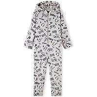 CityComfort Pijama Entero Niño con Capucha, Pijama Mono de Forro Polar, Pijama Niño Diseño Gamer, Regalos para Niños y…
