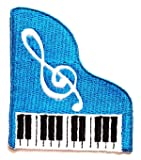 Nipitshop Patches Pretty Cute Blue Piano Music Note