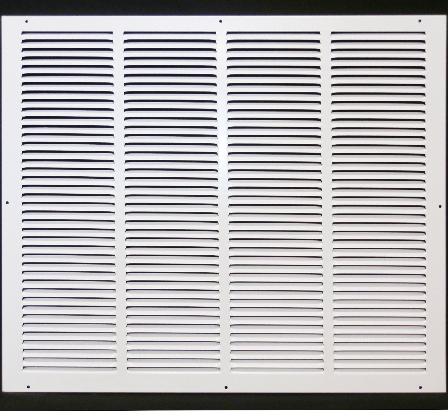 24''w X 20''h Steel Return Air Grilles - Sidewall and Cieling - HVAC DUCT COVER - White [Outer Dimensions: 25.75''w X 21.75''h]