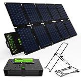 Topsolar SolarFairy 60W Portable Foldable Solar Panel Charger Kit 18V DC Output for Portable Generator Power Station + 12V RV