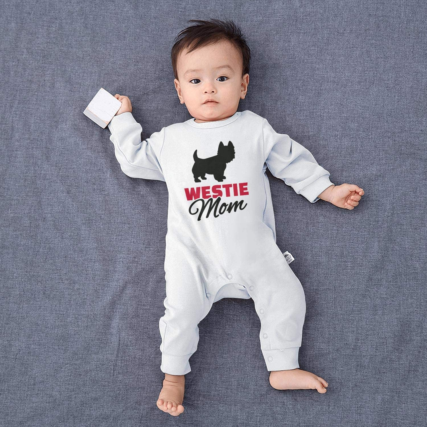Dog Westie Mom Footed Pajamas Long Sleeve 100/% Cotton Newborn Clothes