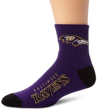 88c9211d096 Amazon.com : NFL Baltimore Ravens Men's Team Quarter Socks : Clothing