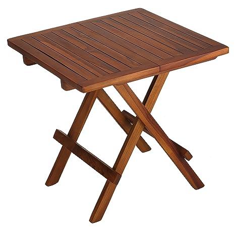 Amazon.com: Bare Decor ravinia plegable madera de teca mesa ...