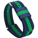 Gemony Nato Strap Premium Ballistic Nylon Watch Band 28 colori disponibili per Diver Orologi, Larghezza di banda 18 20 millimetri