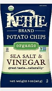 product image for Kettle Potato Chips, Organic Sea Salt & Vinegar, 5 Ounce (Pack of 15)