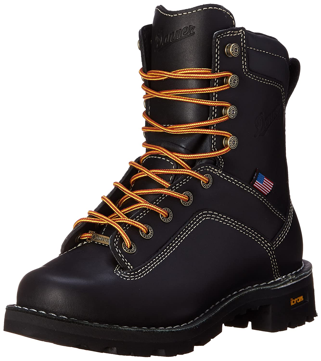 f36ccc97f2a Danner Men's Quarry USA Black Work Boot - 8-Inch