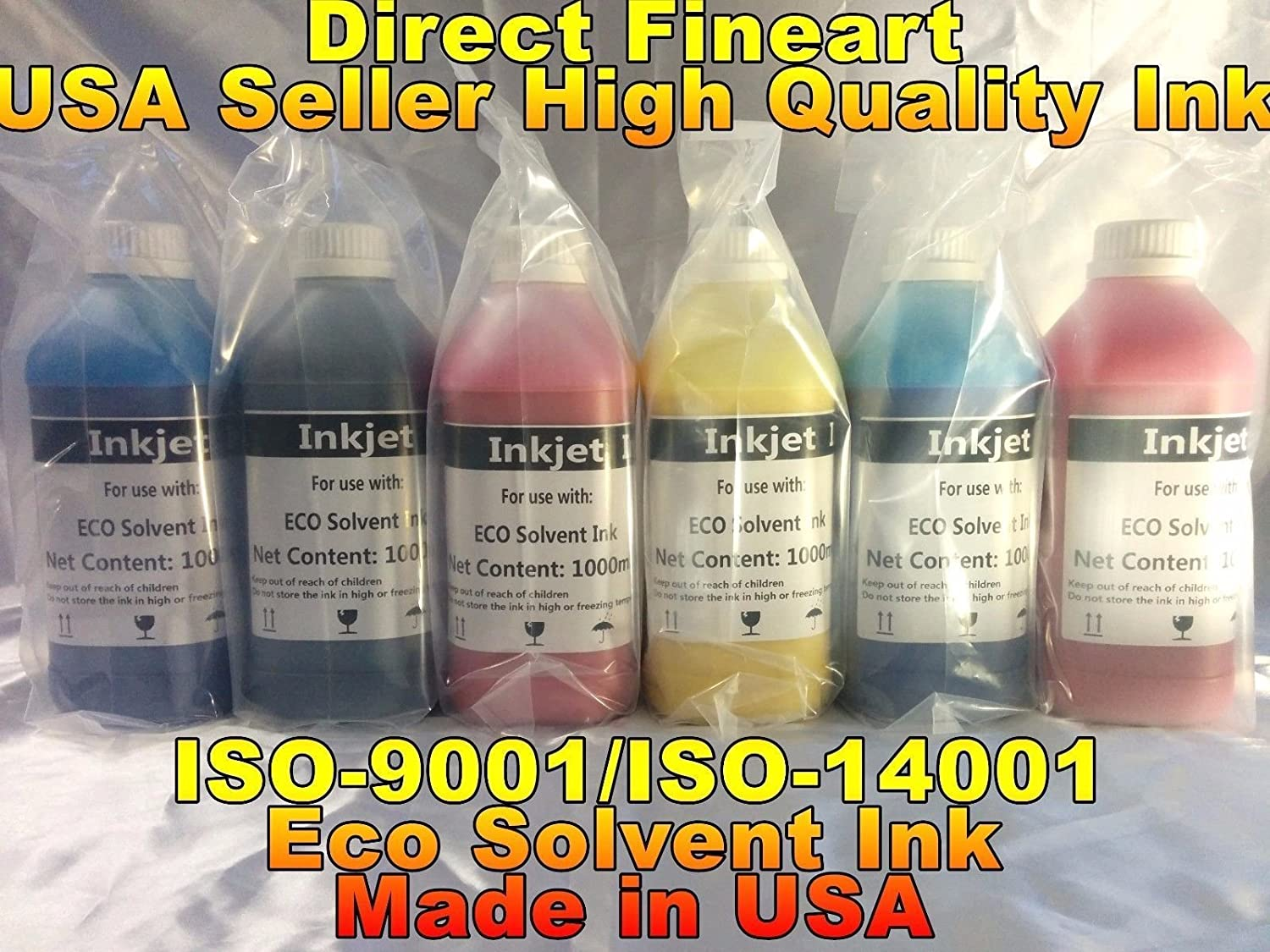 ColorStore - 4 liters Bulk eco Solvent Ink for mutoh Roland mimaki epson hp Banner refillable Cartridge